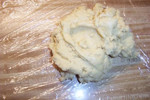 Flatten out the dough.